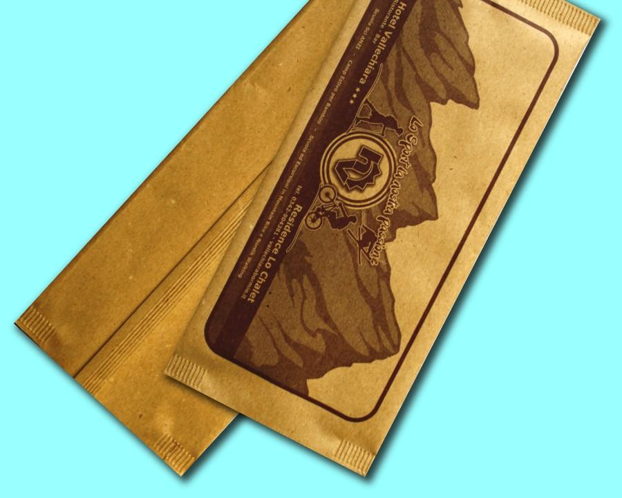busta carta paglia con tovagliolo
