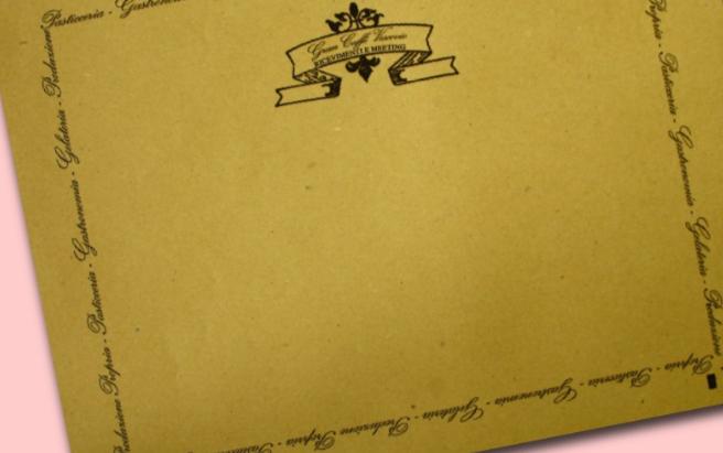 tovaglietta con marchio in carta paglia 35x50